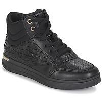 Pantofi Fete Pantofi sport stil gheata Geox J AVEUP GIRL Negru / Auriu