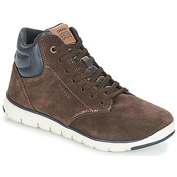 Încăltăminte Băieți Pantofi sport stil gheata Geox J XUNDAY BOY Maro / Bleumarin