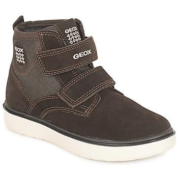 Încăltăminte Băieți Pantofi sport stil gheata Geox J RIDDOCK BOY Maro / Bleumarin