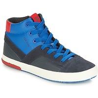Încăltăminte Băieți Pantofi sport stil gheata Geox J ALONISSO BOY Bleumarin / Roșu