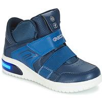 Pantofi Băieți Pantofi sport stil gheata Geox J XLED BOY Bleumarin
