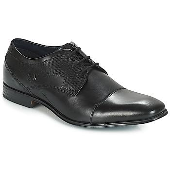 Încăltăminte Bărbați Pantofi Derby Bugatti ROMEI Negru