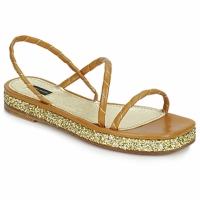 Încăltăminte Femei Sandale și Sandale cu talpă  joasă Marc Jacobs MJ16405 Maro / Gold