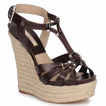 Încăltăminte Femei Sandale și Sandale cu talpă  joasă Michael Kors IDALIA Maro