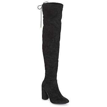 Pantofi Femei Cizme lungi peste genunchi André VELOURS Negru