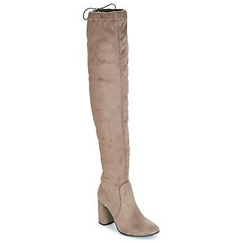 Pantofi Femei Cizme lungi peste genunchi André VELOURS Bej