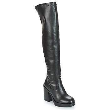 Pantofi Femei Cizme lungi peste genunchi André JESSY Negru