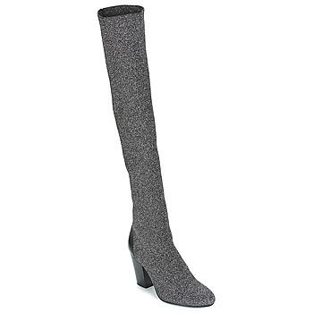 Încăltăminte Femei Cizme lungi peste genunchi André CATWALK Argintiu