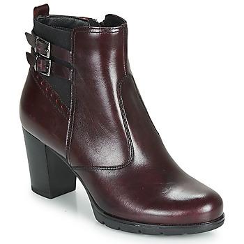 Pantofi Femei Botine André CARACAL Roșu-bordeaux