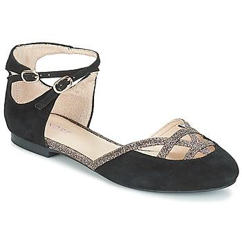 Pantofi Femei Balerin și Balerini cu curea André POUPETTE Negru