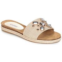 Pantofi Femei Papuci de vară André LUCKY Ecru
