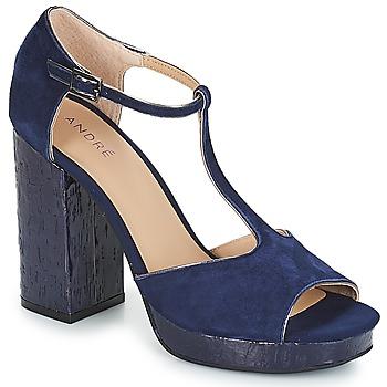 Pantofi Femei Sandale și Sandale cu talpă  joasă André TORRIDE Bleumarin