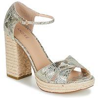 Pantofi Femei Sandale și Sandale cu talpă  joasă André TAPAGEUSE Bej
