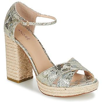 Pantofi Femei Sandale  André TAPAGEUSE Bej