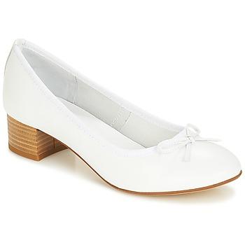 Pantofi Femei Balerin și Balerini cu curea André POETESSE Alb