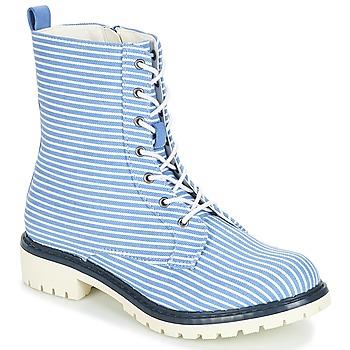 Pantofi Femei Ghete André PRUNE Dungat / Albastru