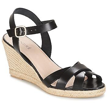 Pantofi Femei Sandale și Sandale cu talpă  joasă André QUIBERON Negru