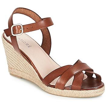 Pantofi Femei Sandale și Sandale cu talpă  joasă André QUIBERON Maro