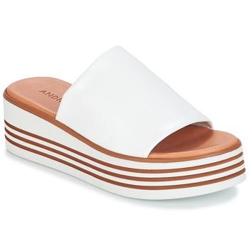 Pantofi Femei Sandale și Sandale cu talpă  joasă André LARRY Alb