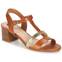 Pantofi Femei Sandale și Sandale cu talpă  joasă André ANTIGUA Camel