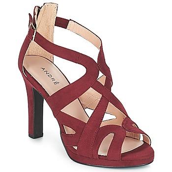 Pantofi Femei Sandale și Sandale cu talpă  joasă André CHARLESTON Roșu-bordeaux