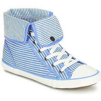 Pantofi Femei Pantofi sport stil gheata André GIROFLE Alb / Albastru