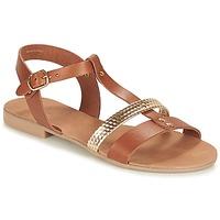 Pantofi Femei Sandale și Sandale cu talpă  joasă André CAYO COCOS Camel