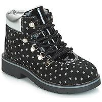 Pantofi Fete Ghete Citrouille et Compagnie JORDA Negru / Argintiu