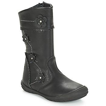 Pantofi Fete Cizme casual Citrouille et Compagnie JAMATIS Negru
