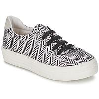 Pantofi Fete Pantofi sport Casual Shwik STEP LO CUT Negru / Alb