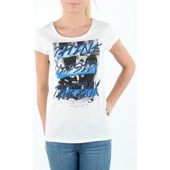 Îmbracaminte Femei Tricouri mânecă scurtă Lee T-shirt Damski SLIM T CLOUD DANCER L41MEVHA white