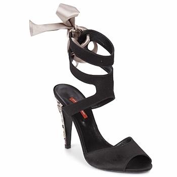 Pantofi Femei Sandale și Sandale cu talpă  joasă Charles Jourdan MADNESS Negru / Bej-nisip