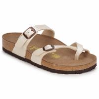Pantofi Femei Papuci de vară Birkenstock MAYARI Crem