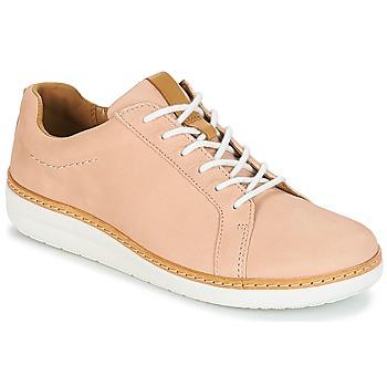 Pantofi Femei Pantofi Derby Clarks Amberlee Rosa Nude / Nubuck