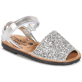 Pantofi Fete Sandale și Sandale cu talpă  joasă Citrouille et Compagnie SQUOUBEL Argintiu