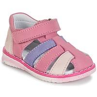 Pantofi Fete Sandale  Citrouille et Compagnie FRINOUI Liliac / Roz / Fuchsia