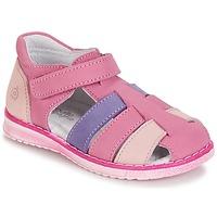 Pantofi Fete Sandale și Sandale cu talpă  joasă Citrouille et Compagnie FRINOUI Liliac / Roz / Fuchsia