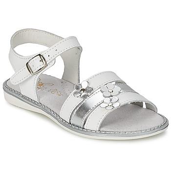 Pantofi Fete Sandale  Citrouille et Compagnie KATAGUE Alb