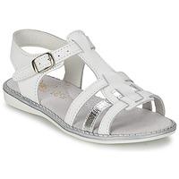 Pantofi Fete Sandale și Sandale cu talpă  joasă Citrouille et Compagnie ROLUI Alb