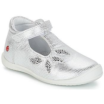 Pantofi Fete Balerin și Balerini cu curea GBB MARGOT Vte / Argintiu / Dpf / Zafra