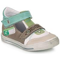 Pantofi Băieți Sandale și Sandale cu talpă  joasă GBB PEPINO Alb / Verde / Taupe