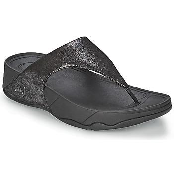 Pantofi Femei  Flip-Flops FitFlop LULU SUEDE Negru