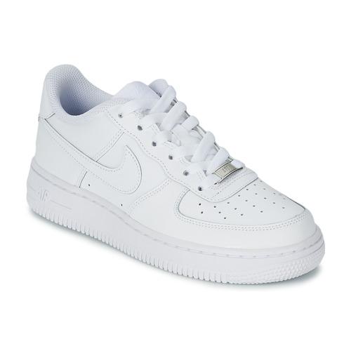 Încăltăminte Copii Pantofi sport Casual Nike AIR FORCE 1 Alb