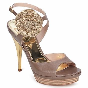 Pantofi Femei Sandale și Sandale cu talpă  joasă Fericelli MINKA Capretto / Tortora