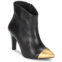 Pantofi Femei Botine Pastelle ARIEL  negru-auriu