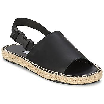Încăltăminte Femei Sandale și Sandale cu talpă  joasă Miista STEPH Negru