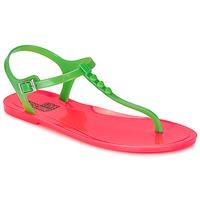 Pantofi Femei Sandale și Sandale cu talpă  joasă Love Moschino JA16381G0KJN180A Verde / Roz