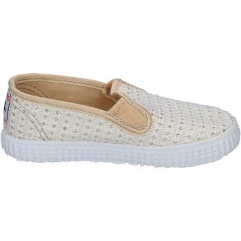 Pantofi Femei Pantofi Slip on Cienta slip on bianco tessuto oro profumate BX351 Bianco