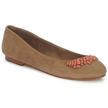 Pantofi Femei Balerin și Balerini cu curea Ambre Babzoe DUFFY Camel
