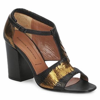 Pantofi Femei Sandale  Sigerson Morrison STRUZZO Negru / Bronz